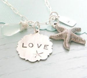 how pretty: Idea, Style, Beach Theme, Jewelry, Things, Beach Wedding, Necklace, Bridesmaid Gift