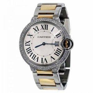 Pre-owned Cartier Ballon Bleu Steel and Gold Unisex Watch