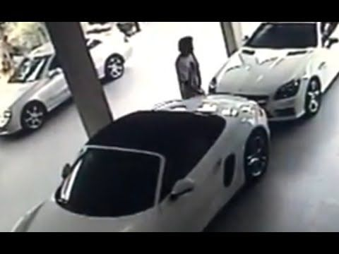 Man making Love with Porsche in Thailand - Road Traffic Fail Videos