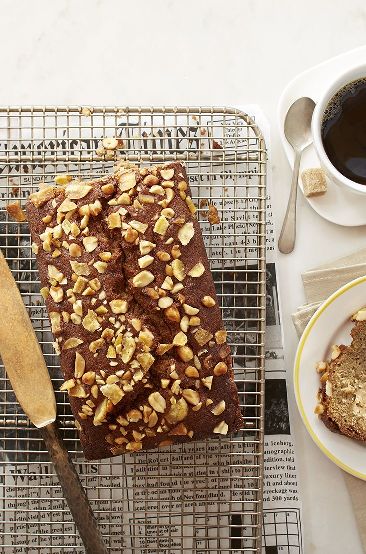 Peanut Butter Banana Bread — moist banana bread with a peanut butter center will be your new go-to brunch bread recipe.