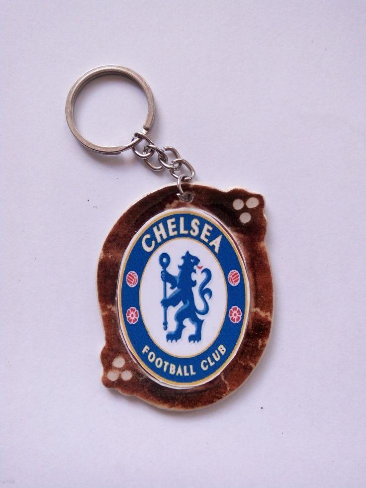 Gantungan Kunci Paralon Bakar Logo Klub Sepakbola CHELSEA