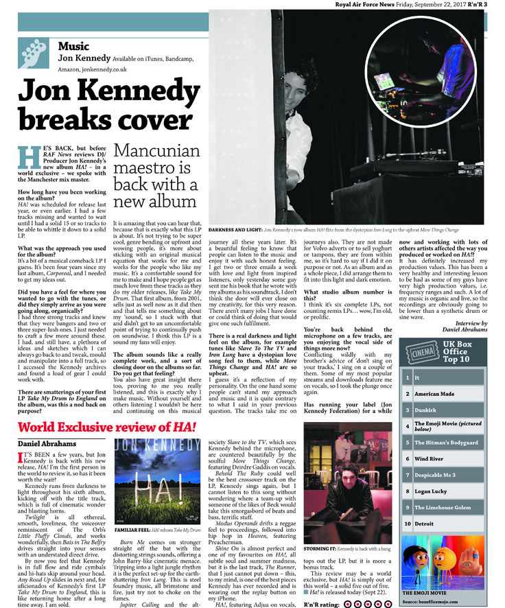 """Jon Kennedy breaks cover"" An interview with The Royal Air Force​ . . . #jonkennedyha"