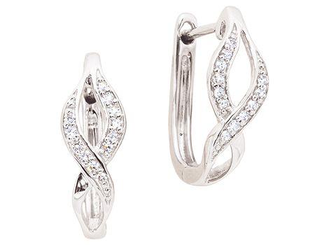 9ct white gold #diamond hoop #earrings with twenty-four single cut #diamonds weighing a total of 0.08ct in grain settings.   #thomasjewellers