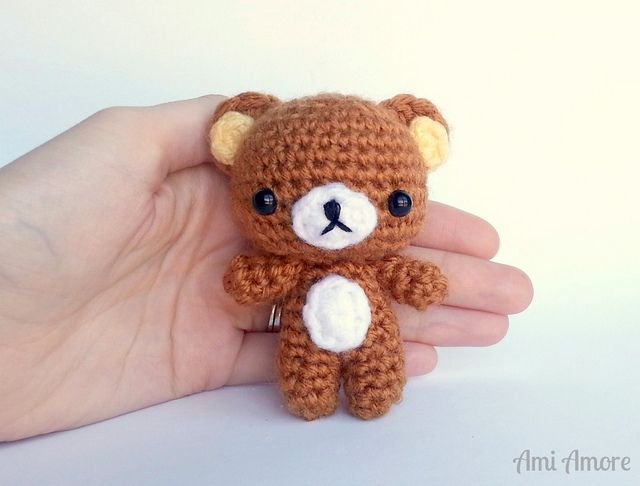 Hello Cutie Rilakkuma! This popular character was made using my Cutie Bear pattern! Korilakkuma and kiiroitori are on my list to make next, completing this adorable set!