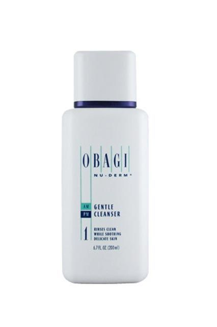 """Obagi Nu-Derm Gentle Cleanser""""This is the only cleanser I've ever used that deep-cleans my pores without irritating my skin or making me break out. Oh, I have super-sensitive, super-acne-prone skin, so that's really saying something. It also removes makeup! I used to turn pink after washing my face, but I don't with this."""" #refinery29 http://www.refinery29.com/expensive-beauty-products-editor-picks#slide-24"""