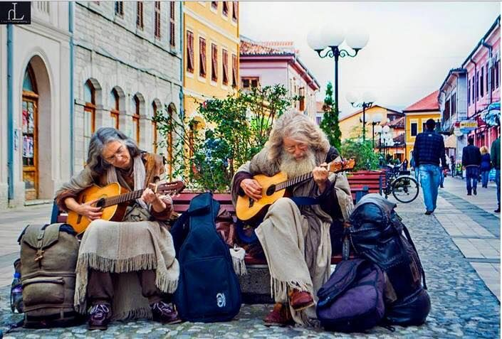 albania-tourism: Hippies in Shkoder, Albania