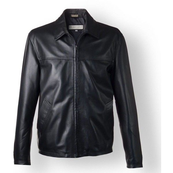 Mens black Leather Biker Jacket, custom fit | Pierotucci Florence... ❤ liked on Polyvore featuring men's fashion, men's clothing, men's outerwear, men's jackets, mens jackets, mens leather moto jacket, mens moto jacket, mens rider jacket and mens biker jacket