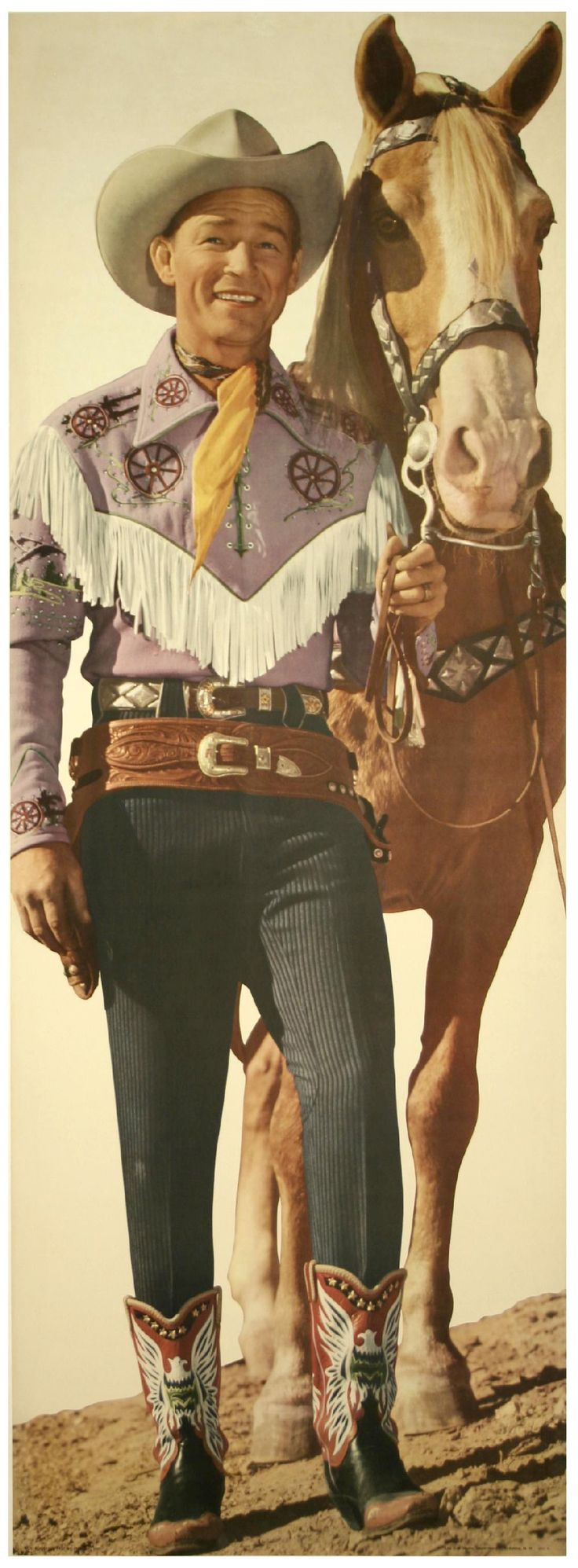 Roy Rogers and Trigger.    Awesome picture.