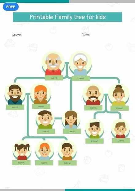 free printable family tree for kid u0026 39 s