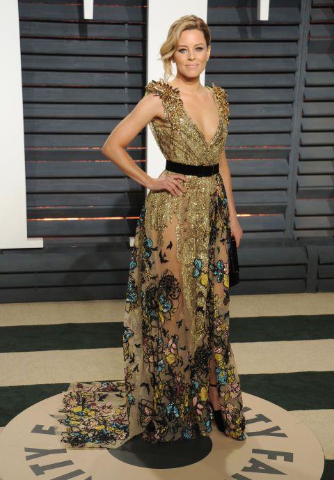 Elizabeth Banks In Elie Saab Couture – 2017 Vanity Fair Oscar Party