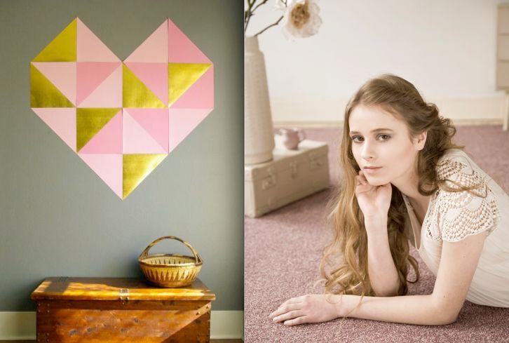 Dit grafische papieren hart op de muur maak je snel en makkelijk zelf: romantisch, zoals Bonaparte Kira's Dream!