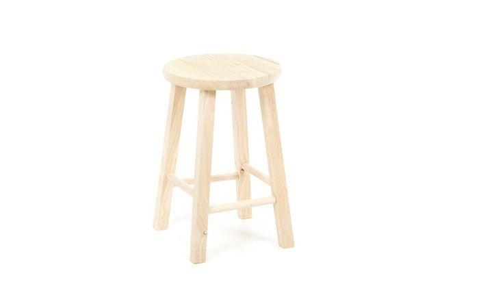 unfinished wood bar stool ; Gardenista