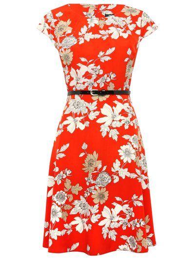 Oriental floral tea dress