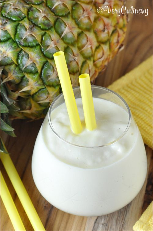 Pineapple Smoothie | Very Culinary: Pineapple Smoothie Recipes, Frozen Smoothie Recipes, Healthy Pineapple Smoothie, Coconut Milk, Pineapple Chunk, Healthy Mixed, Almonds Milk, Super Smoothie Recipes, Mixed Drinks