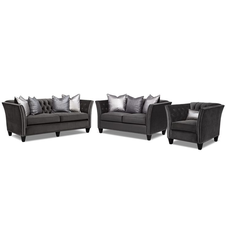 living styles furniture. living room furniture nicole charcoal 3 pc styles