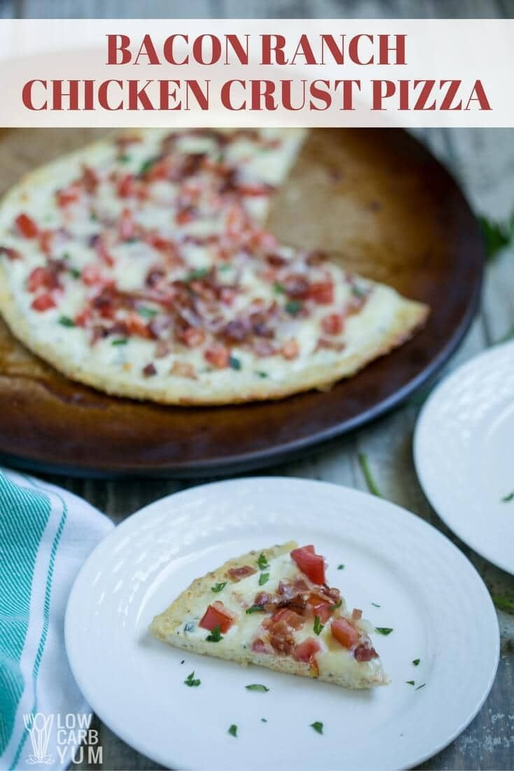 Bacon ranch chicken crust pizza recipe 21f/23p/4c