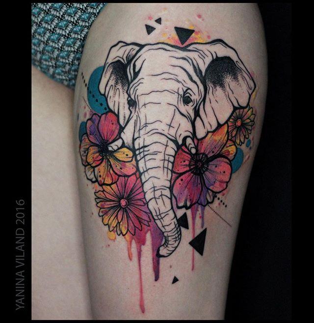 101 Mandala Tattoo Designs For Girls To Feel Alive: Best 25+ Elephant Thigh Tattoo Ideas On Pinterest