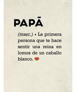 Papá: definición