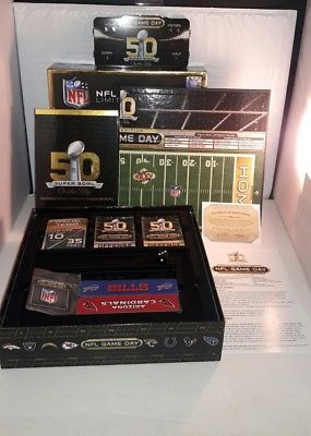 NFL GAME DAY LIMITED EDITION SUPER BOWL 50 COLLECTIBLE BOARD GAME