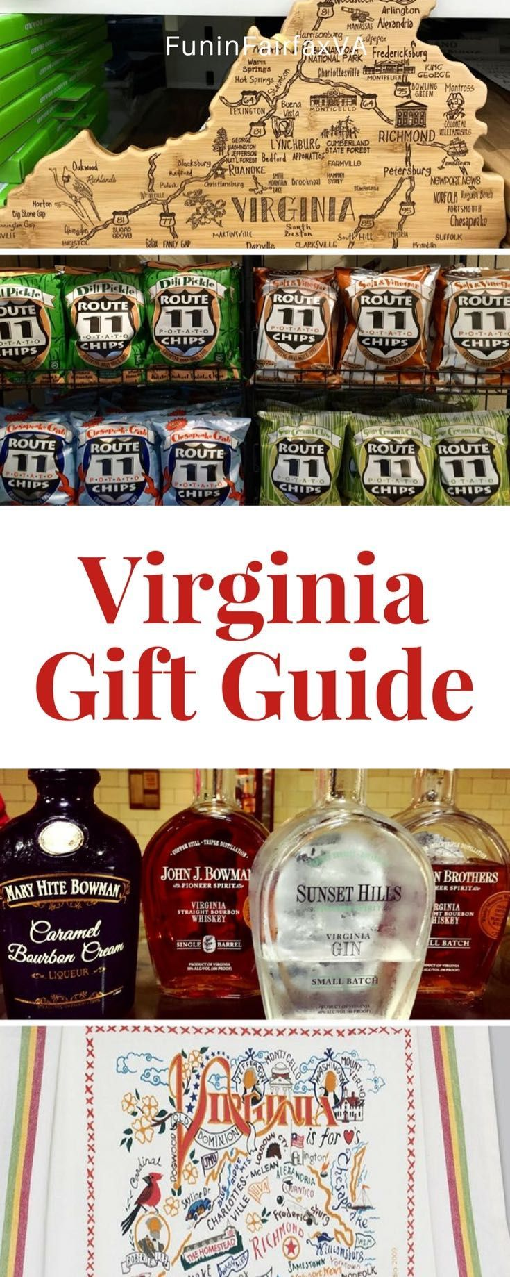 Virginia US Travel   Find the perfect present with our Virginia Gift Guide, full of unique, fun, and useful gifts for residents, visitors, and anyone who loves Virginia.  #holidaygifts #shopping #virginia