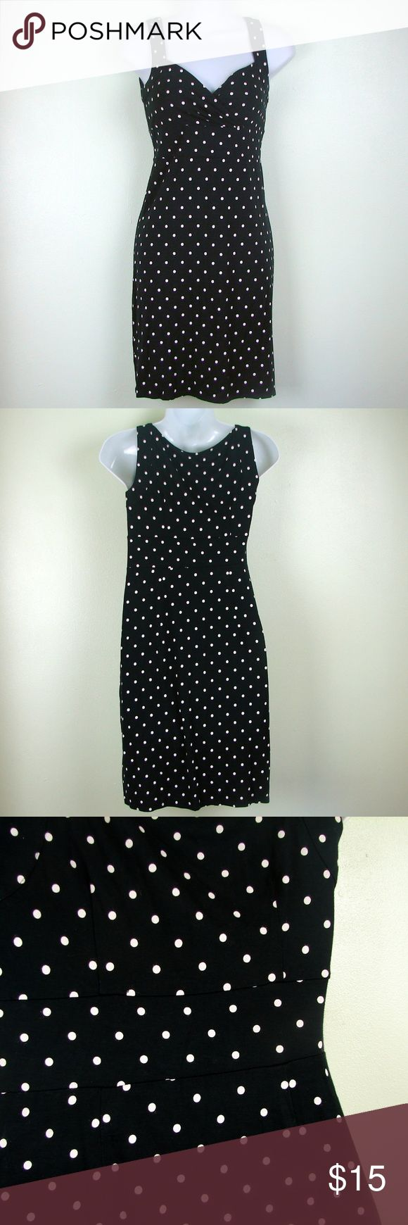 Ann Taylor Loft Petite polka dot bodycon dress Ann Taylor Loft Petite polka dot bodycon dress. Size zipper Waist 26 Chest 32-36  262 Ann Taylor Dresses