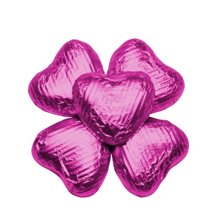 100 Chocolate Hearts, Cerise, £20.95