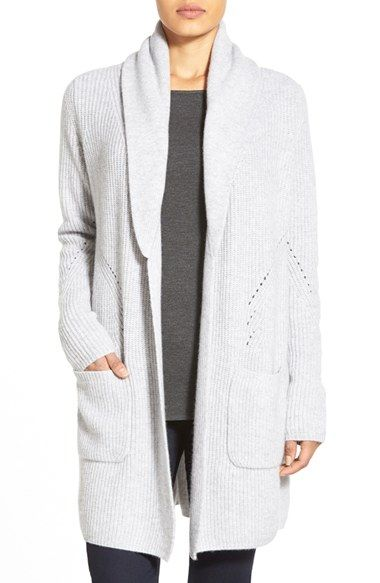 Nordstrom Collection Shawl Collar Long Cashmere Cardigan available at #Nordstrom