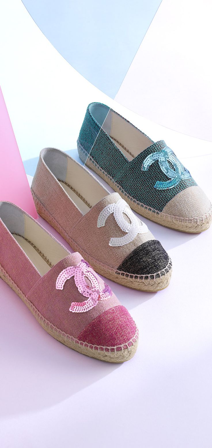 Chanel espadrilles i love these watch the chanel sizing when you buy these i wear a size 9 shoe but chanel always lists it as a size 39 it s not