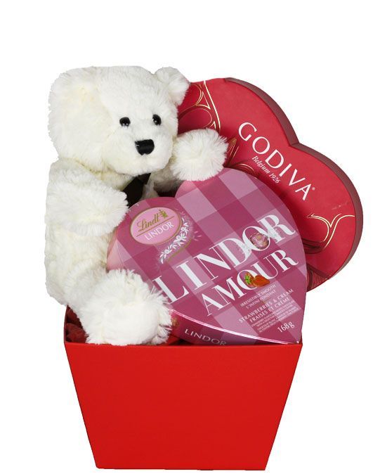 It's not too late to get your love one this sweet Teddy Bear Valentine Gift Basket