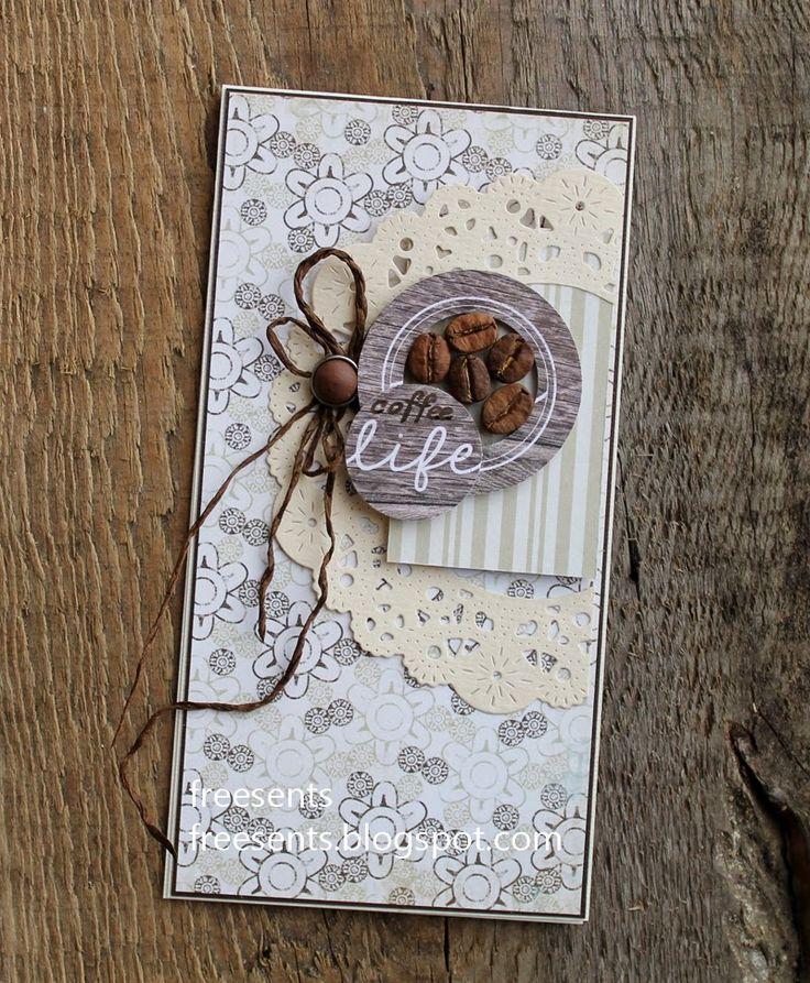Днем рождения, открытки своими руками из кофе