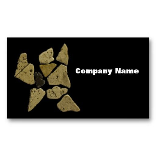 Mosaic Stone Man Business Card Templates