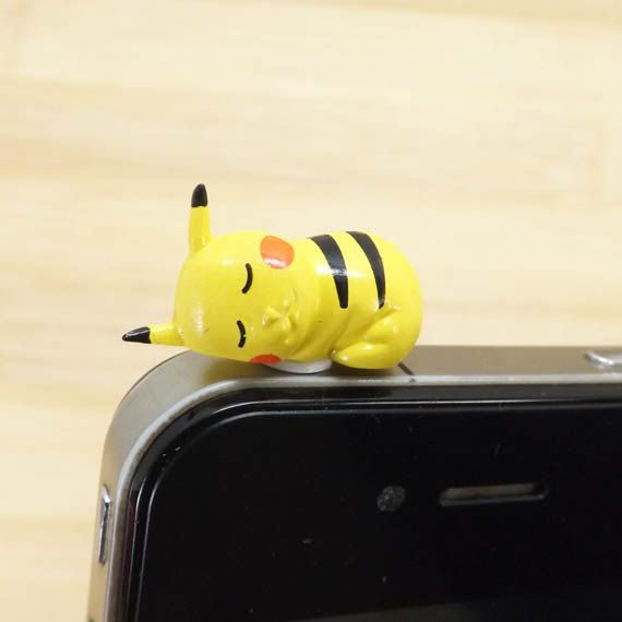 35OFF Kawaii Pokemon Sleeping Pikachu Dust Plug by Polaris798