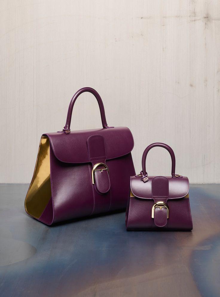 Brillant GM Biface, Box Calf: Prune & Vernis Metal: Antique Gold - Brillant Mini, Mirage: Prune & Antique Gold