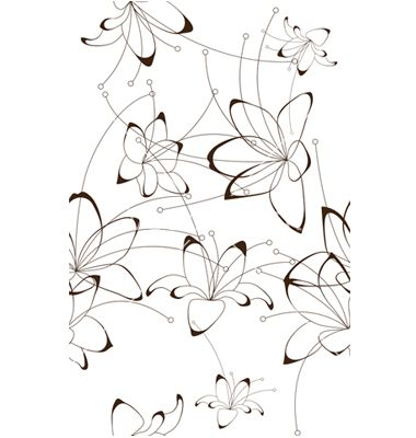 Seamless background floral design vector 1300076 - by SinaAppel on VectorStock®
