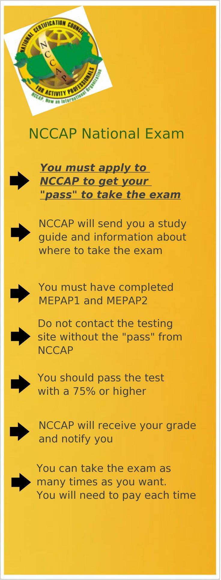 18 best certification information images on pinterest info about the nccap exam xflitez Gallery