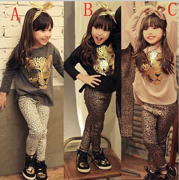 Retail Girls Clothing Sets Dress + Short T shirt 2 Pcs Set Autumn Kids Clothes Fashion Girls Clothes Knitted Children Clothing