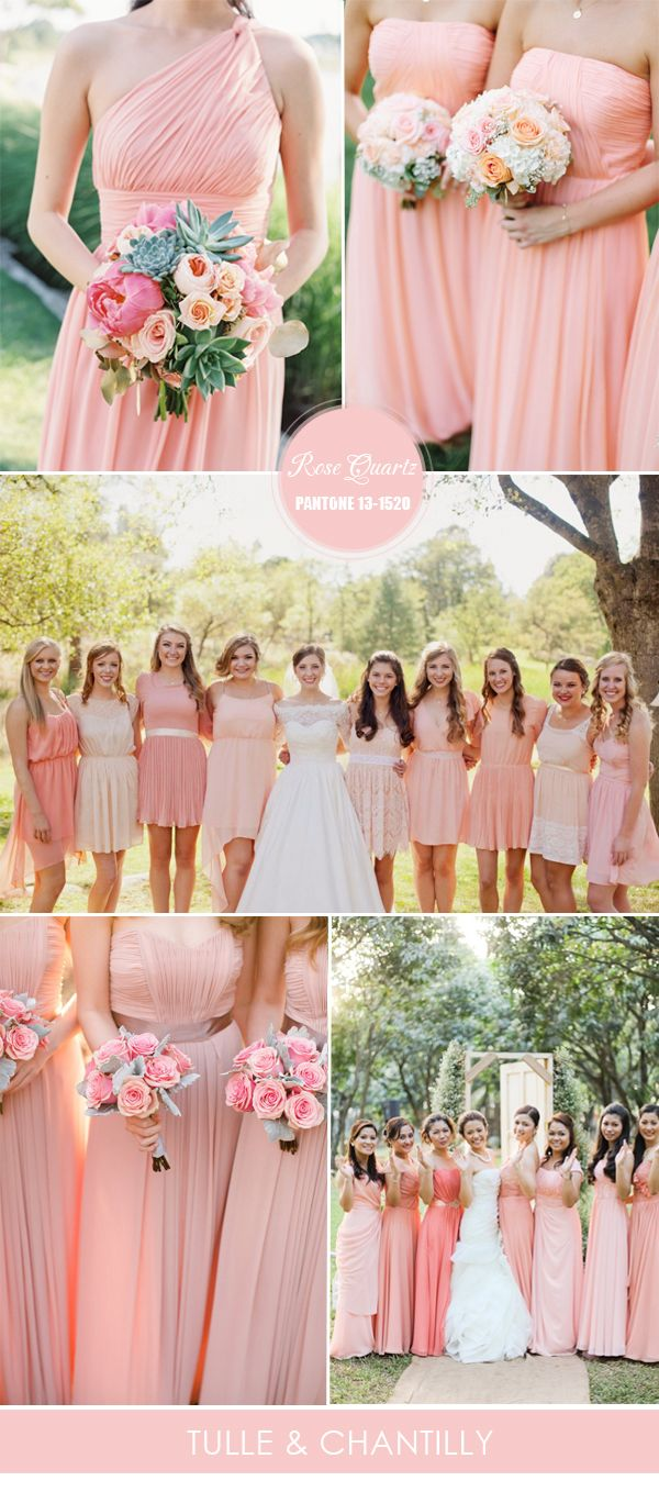 Top 10 Pantone Colors for Spring Summer Bridesmaid Dresses 2016 | http://www.tulleandchantilly.com/blog/top-10-pantone-colors-for-spring-summer-bridesmaid-dresses-2016/