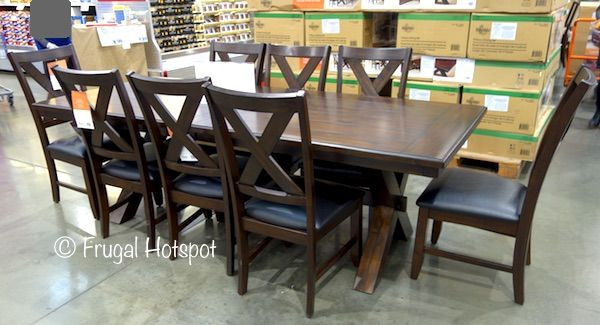 Costco Sale Bayside Furnishings 9 Pc Dining Set 699 99 Bayside Furnishings Kitchen Table Settings Dining Set