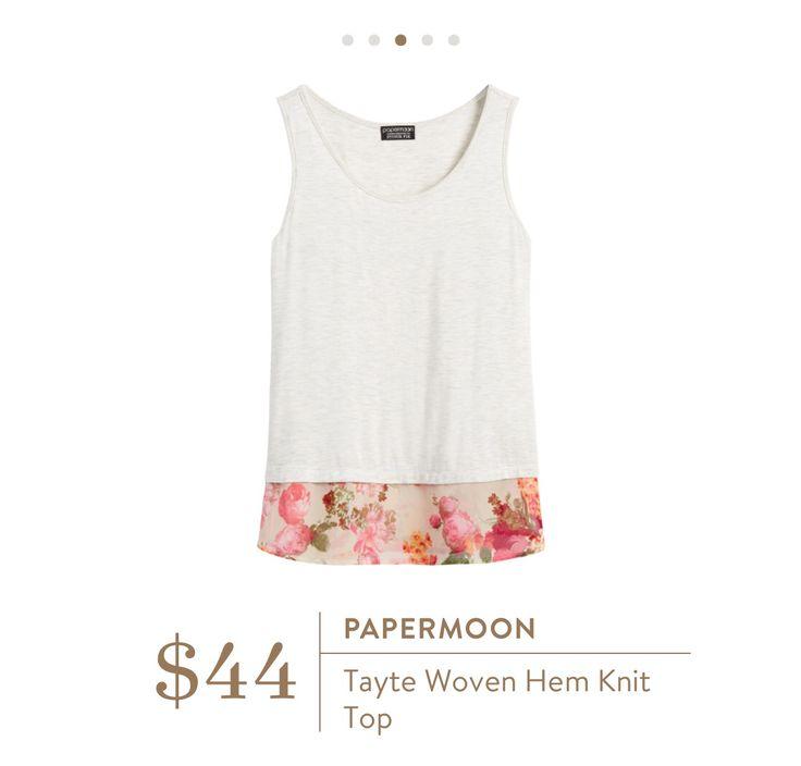 Papermoon Tayte Woven Hem Knit Top/June @stitchfix review