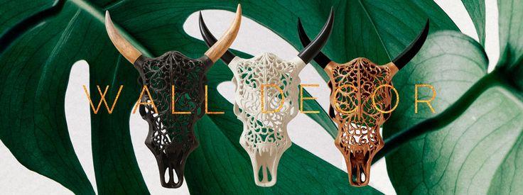 Homedecor, Wall decor - skulls and shields from VanillaFly