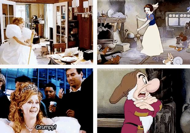 "As if the star-studded cast wasn't enough, the film also parallels scenes from Snow White . | 27 Reasons ""Enchanted"" Is Actually The Best Disney Movie Ever"