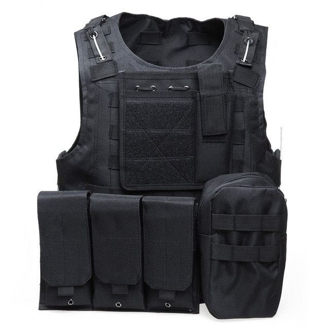 Tactical Vest 7 Colors Mens Military Hunting Vest Field Battle Airsoft Molle Waistcoat Combat Assault Plate Carrier Hunting Vest