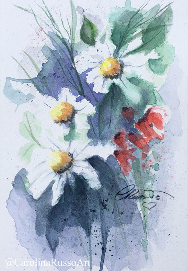 New Painting Wildflowers Watercolor Paintings Painting