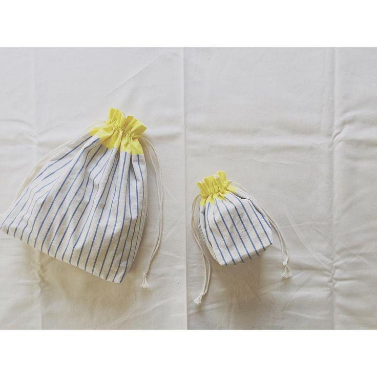 「巾着 バッグ 作り方」の画像検索結果