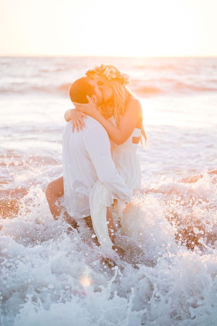 beach weddings in orange county ca%0A Austin  u     Ryan    Beach Engagement Session by Jasmine Lee Photography