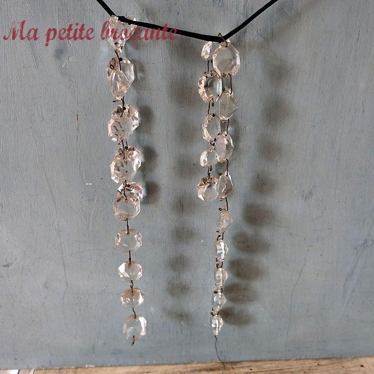 Des pampilles de cristal forme diamant