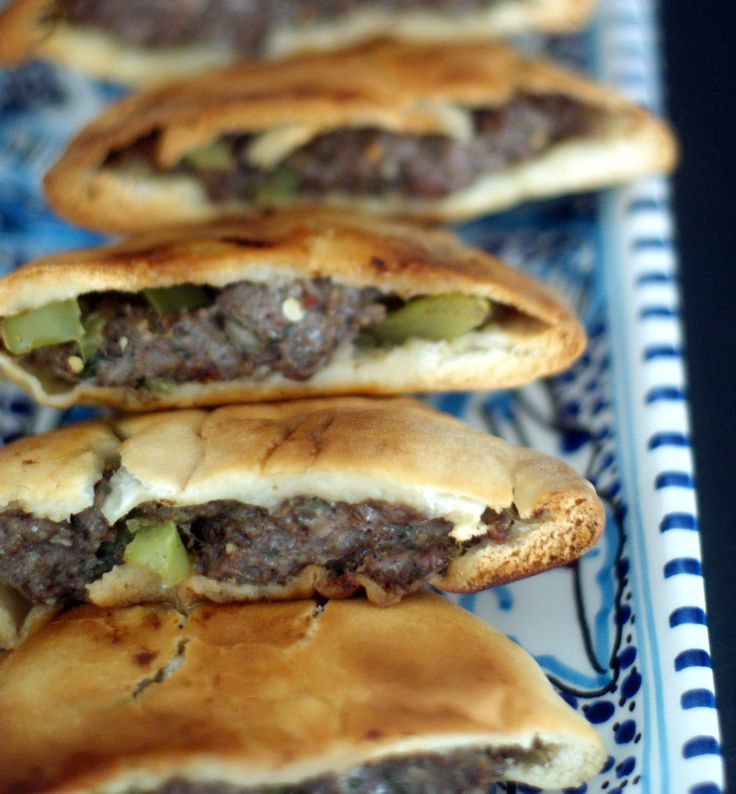 Egyptian meat sandwich ( hawawshi). Serve with a salad ( I prefer tabouli) and you will fall in love with this recipe