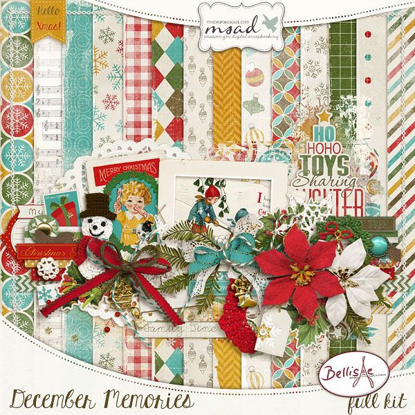December Memories by Bellisae Designs, part of the December 2014 Scrap Pack at Scrap Stacks http://scrapstacks.com/scrappack/