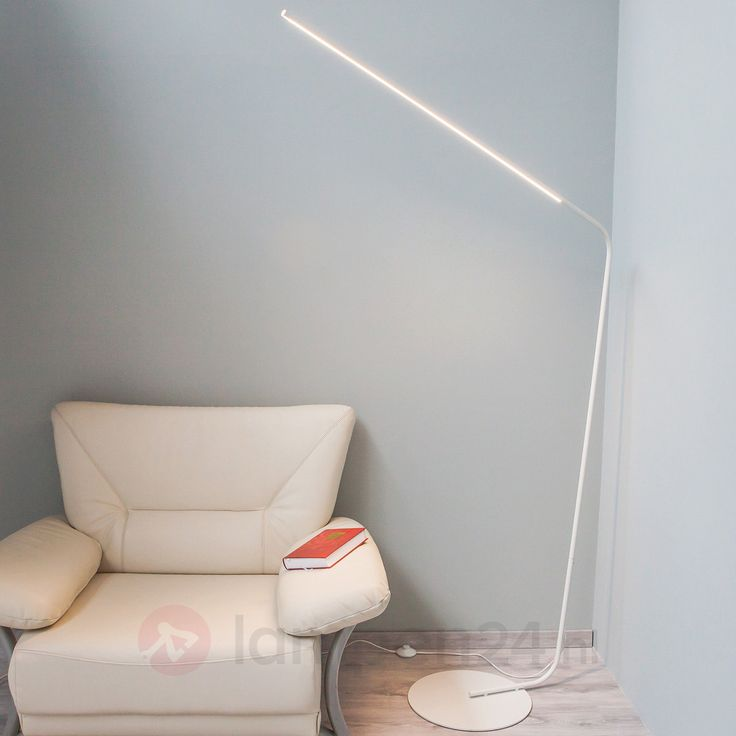 Puristische LED-vloerlamp Mirca in wit 9620254