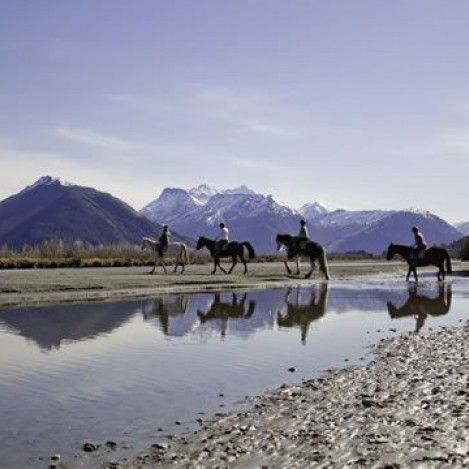 Horse riding in paradise. Glenorchy is home to some of New Zealand's most spectacular scenery. Seeing it on horseback is pretty spectacular too.
